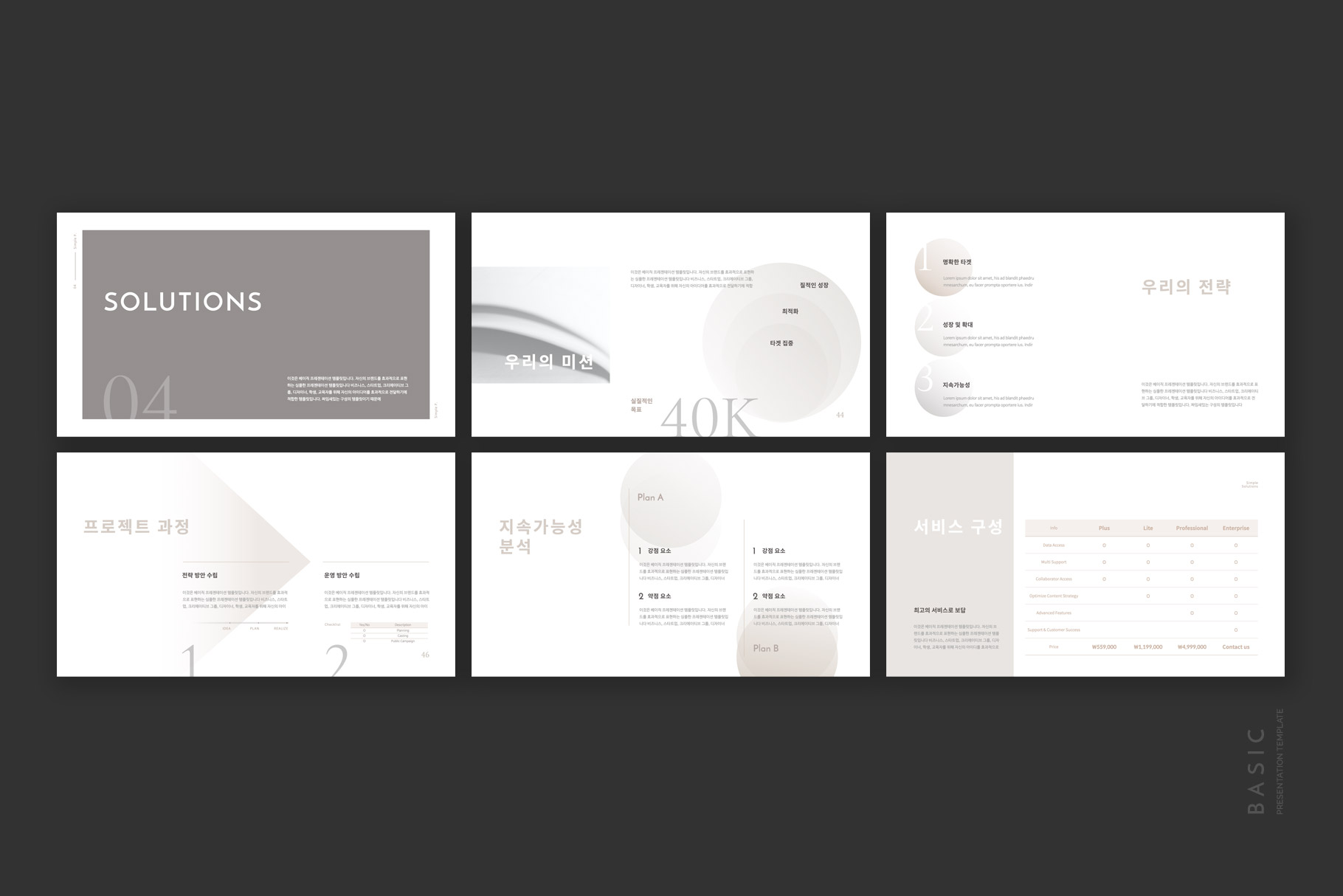 Basic Presentation Template