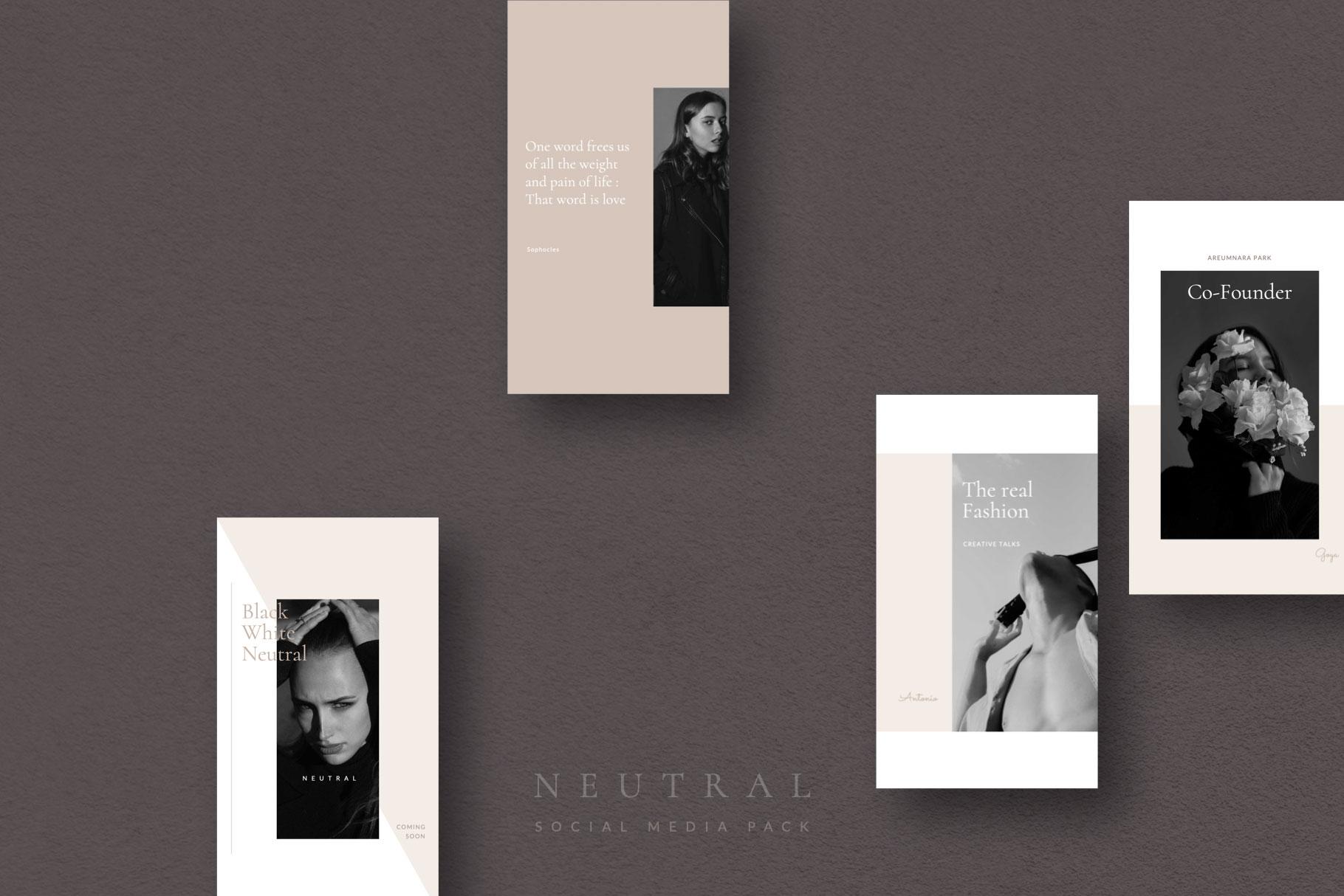 Neutral Social Media Pack