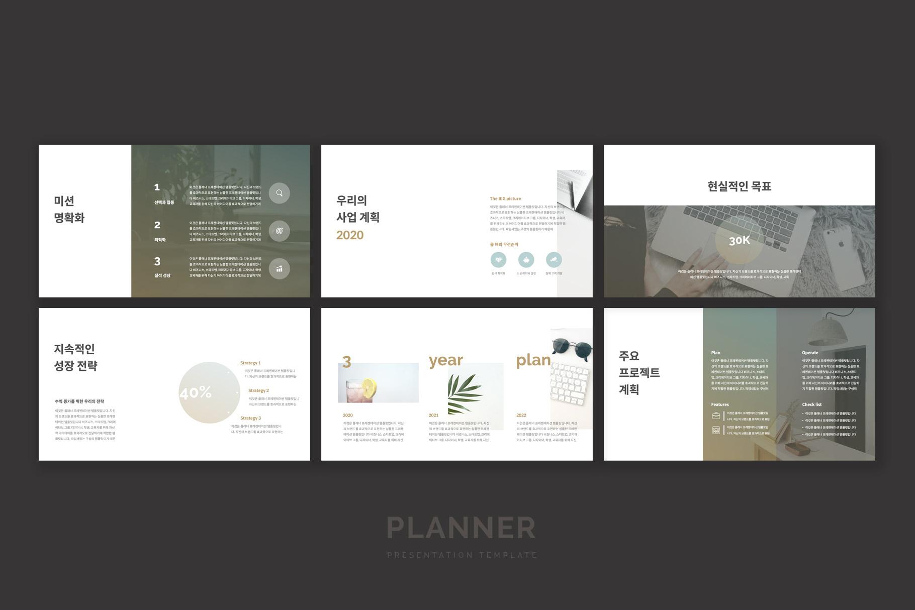 Planner Presentation Template