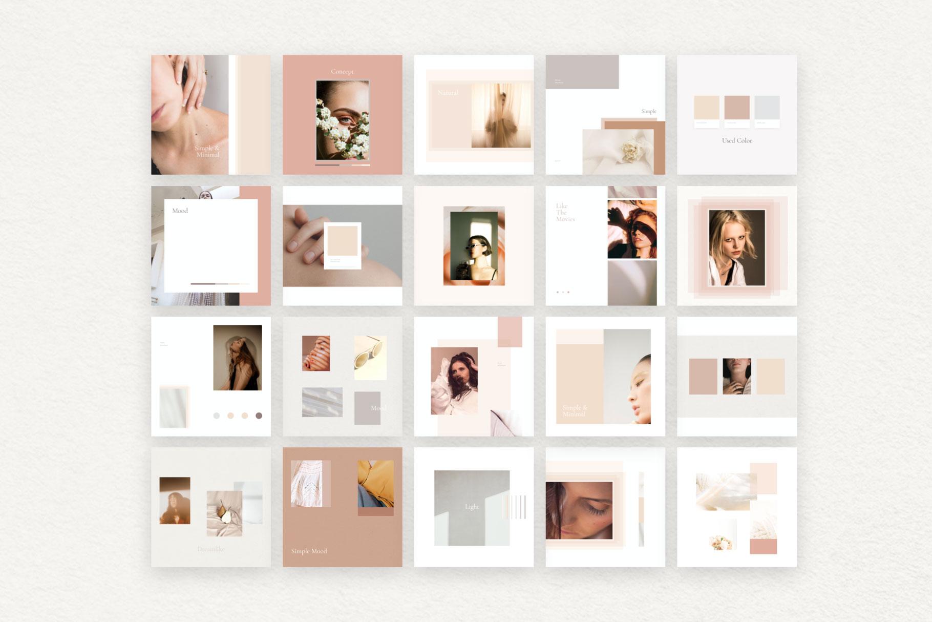 Rose Mood Board Pack
